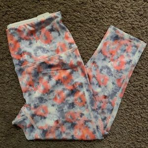 Ruby Ribbon Crop Leggings Tie Dye Swirl